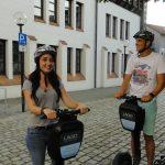 Stadtführung Ulm. Touristen mit dem Segway durch Ulm. Teambuilding, Event.