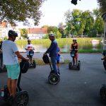 Touristen mit dem Segway Ulm Stadtführung